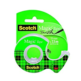 Scotch 3M Magic Tape Nastro Adesivo Trasparente, 19 mm 7.5 m
