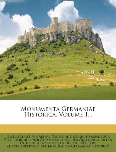 Monumenta Germaniae Historica.