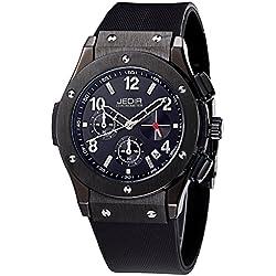 YPS Men Number&Nail Shape Scale Quartz Movement Multifunction Sub Dials Calendar Luminous Wrist Watch WTH5313