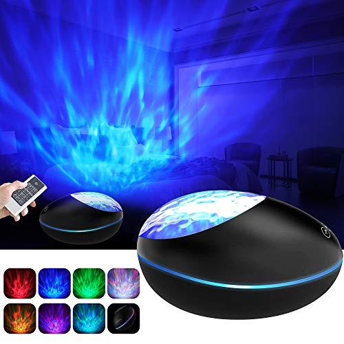 Lampara Proyector Océano Ola Bluetooth 5.0, Lámpara Proyector Infantil Luz Nocturna con 360° Rotación...