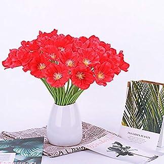 Flor Artificial Flores Artificiales Exterior Flores Artificiales Plastico Jardin Seda La Flor Decoracion Flor De Mesa De Amapola Moderna con Estilo Clásico De 5 Ramas