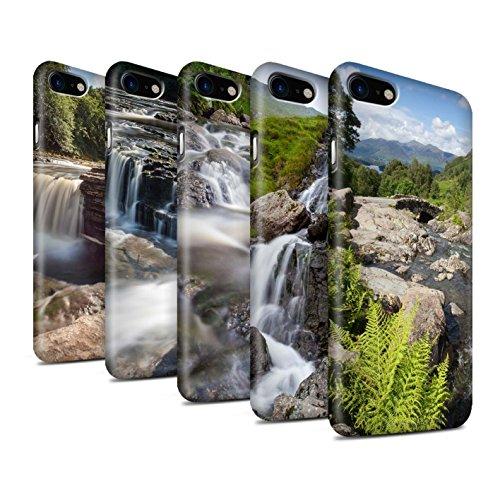 STUFF4 Matte Snap-On Hülle / Case für Apple iPhone 8 / Brücke Muster / Wasserfälle Kollektion Pack 7pcs