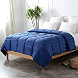 Cheer Collection Full-Queen Size Duvet Insert | All Season Hypoallergenic Down Alternative Striped