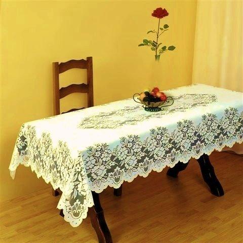 HERAUSRAGEND creme schwer Spitze Tischdecke 52