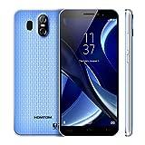 HOMTOM S16 3G Android 7.0 2 GB + 16 GB MTK6580 Quad-Core-Smartphone Duale Rückfahrkamera 5,5 Zoll HD Mobiele Telefoon (Blau)