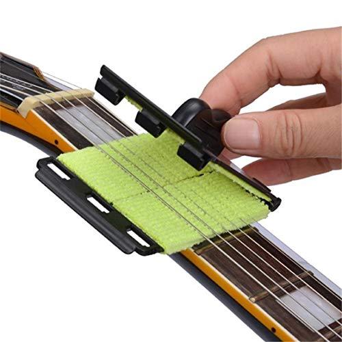 Ogquaton Premium-Gitarren-Bass-Pflege-Reiniger Saiten-Bund-Griffbrett Griffbrett Schmutzentfernungs-Wischer-Pad Einfache Saitenreinigung Gitarrenpflegemittel Praktisch