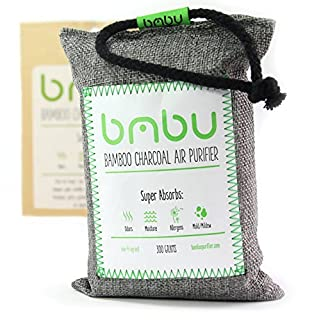 300g Bamboo Charcoal Air Purifier Bag ★ Car Deodorizer and Air Freshener ★ Remove Odor and Control Moisture in your Car, Closet, Bathroom, Kitchen, Litter Box ★ Non-Fragrant Alternative to Sprays