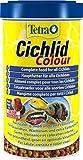 Tetra Cichlid Colour (Hauptfutter für die besonderen Ernährungsbedürfnisse von alles- und fleischfressenden Cichliden), 500 ml Dose