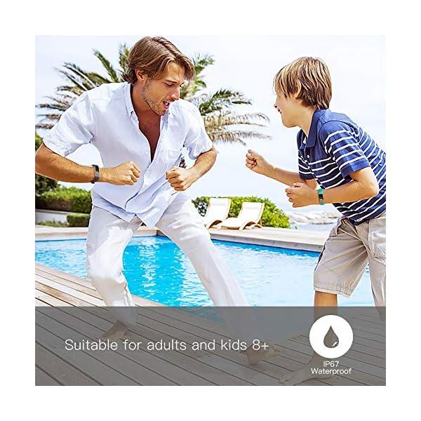 TOOBUR Reloj Inteligente para Mujer Hombre Niños, Pulsera Actividad con Cuenta Pasos y Calorias, Podómetro Smartwatch Impermeable IP67 con Monitor de Sueño y Despertador Vibrador 2