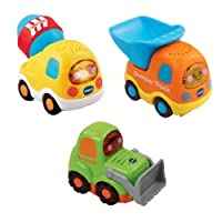 VTech Baby 205743 Toot-Toot Drivers Car Construction Vehicles - Multi-Coloured, Pack of 3-multi-color