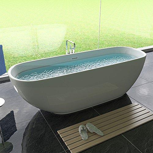 Freistehende Badewanne Acryl freistehend Wanne Weiß Badewanne