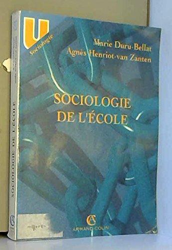 Sociologie de l'école par Marie Duru-Bellat
