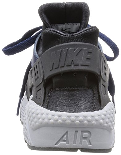 Nike Air Huarache, Chaussures de Sport Homme Azul Marino (Mid Nvy / Mid Nvy-Drk Ash-Cl Gry)