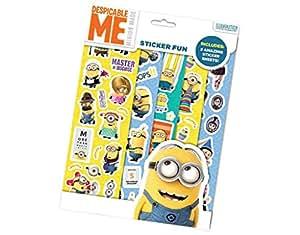 Set lot de 5 paquets stickers Les minions