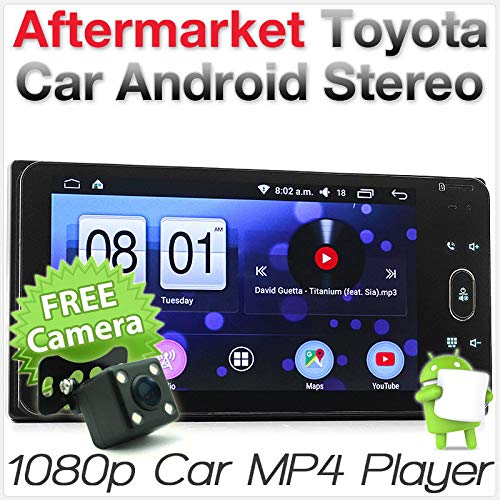 Tunez Kfz-MP3-Player für Aftermarket Toyota Hilux Hiace Land Cruiser Prado 100 120 150 200 Series Kluger Tarago Corolla Camry MirrorLink