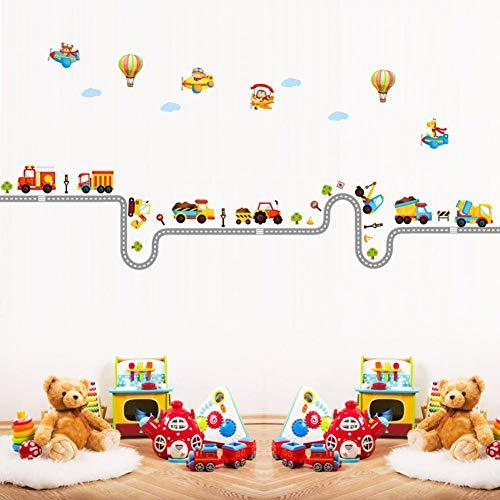 ZXFMT Adesivi per Auto dei Cartoni Animati in Grado di Rimuovere Gli Adesivi Murali all'Ingrosso La Decorazione della Stanza dei Bambini Dell'Asilo sul Muro Adesivi per Auto dei Cartoni Animat