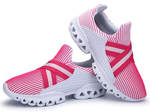 IIIIS-R Donna Scarpe da Ginnastica Corsa Sportive Running Sneakers Fitness Interior Casual all'Aperto Rosa