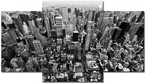 TOP XXL Bild auf Leinwand BIG APPLE BILDER 3 Teile Art-Nr. AMXL31124 USA Bilder fertig gerahmt auf echtem Keilrahmen. Kunstdruck als Wandbild auf Rahmen. Günstiger als Ölbild Gemälde Poster Plakat mit Bilderrahmen RIESIG! Günstig MADE IN GERMANY!