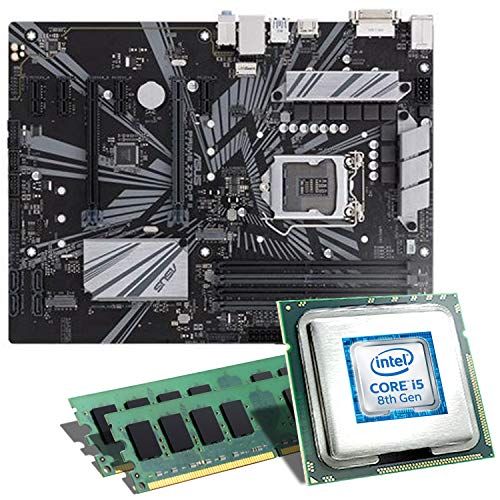 Intel Core i5-8500 / ASUS Z370-P II Mainboard Bundle / 16GB | CSL PC Aufrüstkit | Intel Core i5-8500 6X 3000 MHz, 16GB DDR4-RAM, Intel UHD Graphics 630, GigLAN, 7.1 Sound, USB 3.1 | Aufrüstset