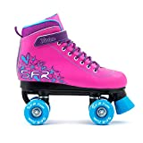 SFR Vision II Pink/Blue Kids Quad Roller Skates - UK 1