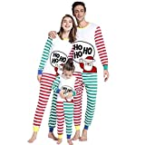 Riou Weihnachten Set Kinder Baby Kleidung Pullover Familie Pyjama Outfits Set Nachtwäsche Schlafanzug PJS Homewear für Eltern Jungen Mädchen Kleidung Sleepwear Set (110, Kinder)