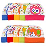 Badru New Born Baby Printed Caps pack of 10 (Multicolor)