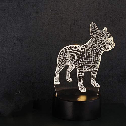 3D Nachtlicht Acryl kreative LED kleine Tischlampe Geschenk Licht Fernbedienung Schlaf Licht drei Farbe Welpe 0.1W - Messing Antik Klavier