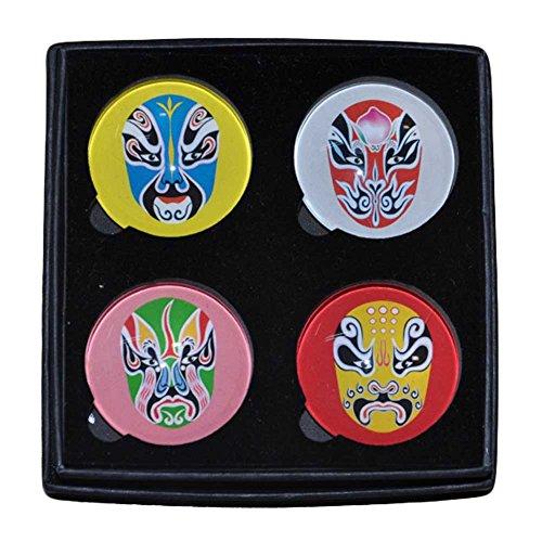 Preisvergleich Produktbild Set von 4 Kristall Peking-Oper Kühlschrankmagnete magnetische Aufkleber