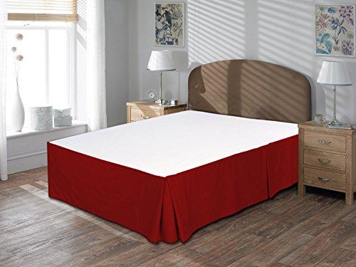 """Comodidad beddings 1pieza Cubre canapé 12""""Drop Longitud de 600Hilos UK King Size 100% algodón Egipcio sólido, Granate, UK King"""