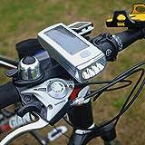 Super brillante, a prueba de salpicaduras impermeable LED luces recargables de bicicleta LED por luz de bicicleta Vivid Luces solares recargables de plata