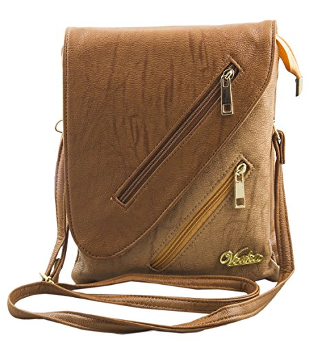 Voaka Women's Designer Sling Bag (Available in Tan, Beige, Chrome, Brown, Red, Pink, LBrown & DBrown) (LBrown)