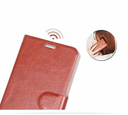 iphone 8 Pelle Portafoglio Case, G-Hawk® Aspirazione magnetica Slot per schede Prodotti in acciaio manganese Processo di piastra in acciaio Tutela DellAmbiente PC + Pelle PU Custodia Caso Custodia Ca Nero