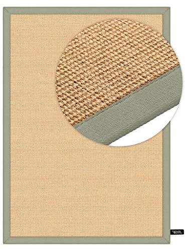 Benuta Naturfaserteppich für Flur und Wohnzimmer Alfombra, Verde, 140 x 200 cm