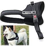 XCSOURCE® Soft Padded Adjustable Pet Harness Vest for Dog Training or Walking Black PS015