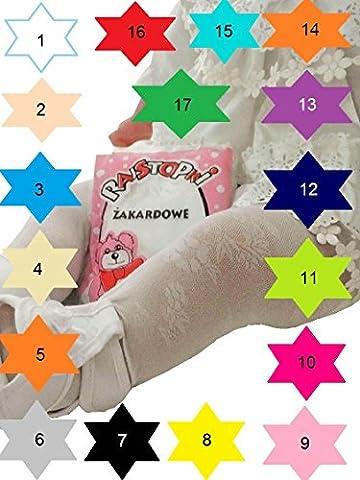 Strumpfhose Mädchen BabyTaufe Balet 17 Farben Leicht -Transparent in 7 Größen 80/86-152 (92 / 98 ... R9/2, Schwarz ... nr.7)