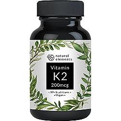 Vitamin K2 MK7-365 Kapseln à 200 µg - 99,7+% All-Trans - Premiumqualität: K2VITAL Delta von Kappa – Mikroverkapselt, hochdosiert, vegan und hergestellt in Deutschland