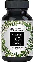 Vitamin K2 MK7 200µg - 365 Kapseln - Premium: 99,7+% All-Trans (K2VITAL® Delta von Kappa) - Mikroverkapselt, hochdosiert, vegan, hergestellt in Deutschland