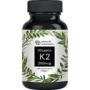 Vitamin K2 MK7 200µg – 365 Kapseln – Premium: 99,7+% All-Trans (K2VITAL® Delta von Kappa) – Mikroverkapselt, hochdosiert, vegan, hergestellt in Deutschland