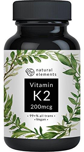Vitamin K2 MK7-365 Kapseln à 200µg - 99,7+{618ac9581b58063d6080e5c5cd5f6fa800f7c09d693f621213113f2e706a5347} All-Trans - Premiumqualität: K2VITAL® Delta von Kappa - Mikroverkapselt, hochdosiert, vegan und hergestellt in Deutschland