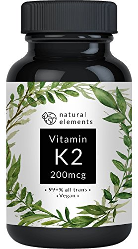 Vitamin K2 MK7 200µg - 365 Kapseln - Premium: 99,7+{e58182d896758acd2cc2e57d7f86840a110ec5b1537ff384c13ce8d9d751a521} All-Trans (K2VITAL® Delta von Kappa) - Mikroverkapselt, hochdosiert, vegan, hergestellt in Deutschland
