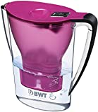 BWT 815071 Penguin Tischwasserfilter, 2,7 L, mit einer Kartusche Magnesium Mineralizer für 120 L gefiltertes Leitungswasser, aubergine