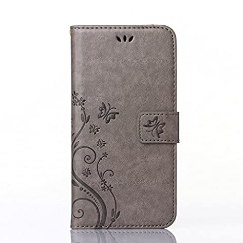 gris luxe Mode tendance individualité relief design portefeuille supporter PU cuir couverture de flip housse coque étui pour Nokia Lumia 630 / 635