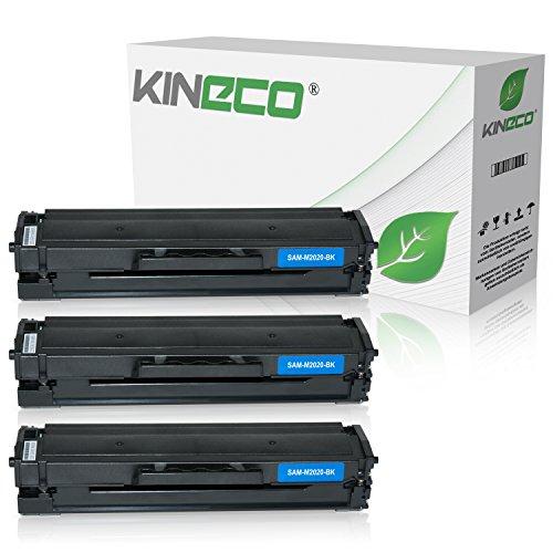 Preisvergleich Produktbild 3 Kineco XXL Toner (150% mehr Inhalt!) kompatibel zu Samsung MLT-D111S für Samsung M2026W, M2022W, M2022, M2070W, M2070FW, M2020, M2000 - MLTD111S/ELS . Schwarz je 2.500 Seiten