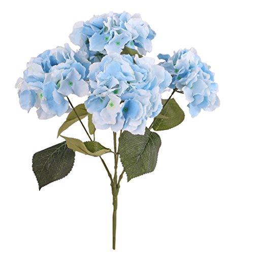 Matrimonio Azzurro Ortensia : Sharplace bouquet di ortensia artificiale in seta fiore finta