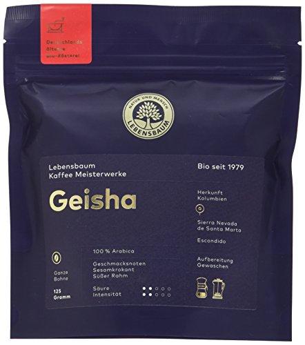 Lebensbaum Bio Geisha Kafee, ganze Bohne, 2er Pack (2 x 125 g)