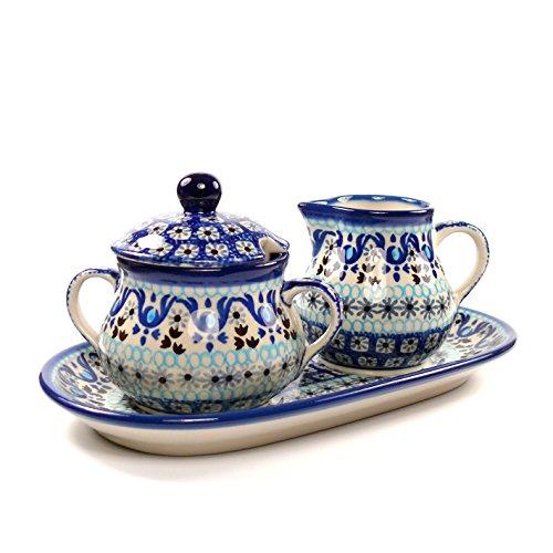 Ceramika Artystyczna Polish Pottery Cream & Sugar Set