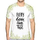 Shiyiqi10 Short Sleeve T-Shirt Modern Lettering Inspirational Hand Lettered Quote Wall Poster Printable Calligraphy Phrase Print ev