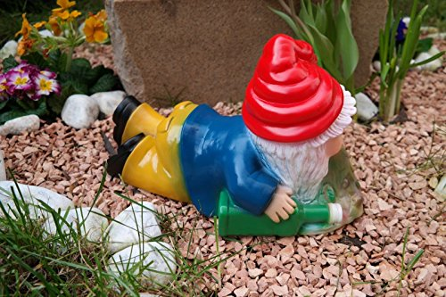 Gartenzwerg Brandy Andy aus bruchfestem PVC Zwerg – Made in Germany Figur - 2