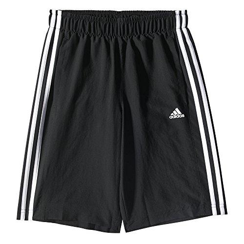Adidas YB ESS 3S WV SH - Pantalón Corto Real Sociedad 1ª equipación 2015/2016 para niño, Color Negro/Blanco, Talla 116