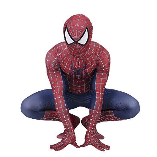 r Classic Spider-Man Kostüm Spiderman Kostüm Cosplay Zentai Kostüm Erwachsene Halloween Kostüm Party Film Kostüm Requisiten,Red- 160~165cm ()